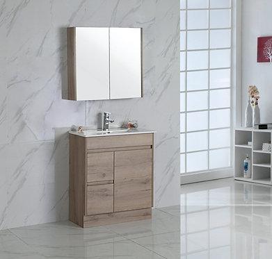 750mm YORK timber vanity - ceramic top