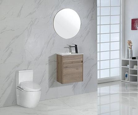465mm REVIT wall hung timber vanity - ceramic top
