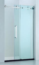 Frameless sliding door (adjustable) (1000-2000)mm - Chrome