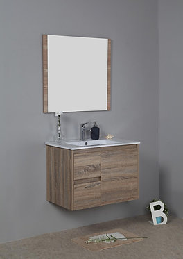 750mm GRACE timber vanity - ceramic/stone with under or above counter basin