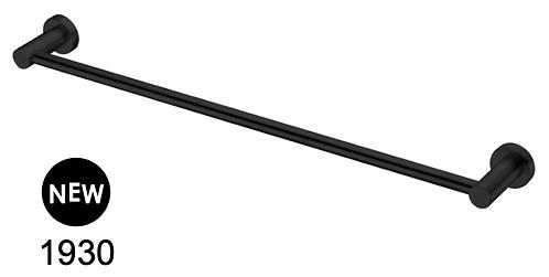MECCA 800mm single towel rail-Chrome/BK/Brushed nickel/Gun metal grey/Brushed go