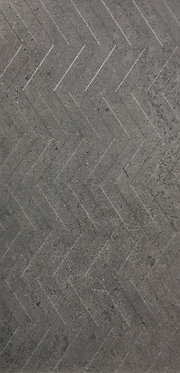 Dark Grey Zig/Zag Matt Decor - 300x600