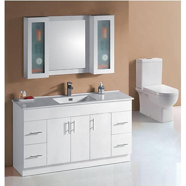 1500mm vanity Ceramic top / Stone & undermount basin or above counter basin