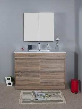 1200mm LEO timber vanity - ceramic/stone with under or above counter basin