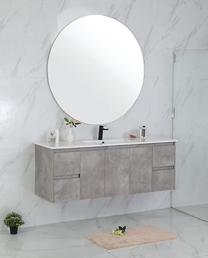 1500mm LOLA concrete vanity - ceramic/stone with under or above counter