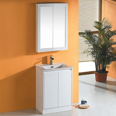 600mm vanity Ceramic top / Stone & undermount basin or Above counter basin