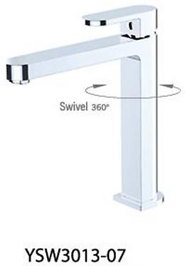 ECCO tall basin mixer (swivel) White / Chrome / Black