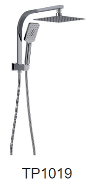 QUBI compact twin shower set-Chrome/Black