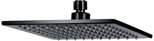Curo square shower head 195mm (matt black)