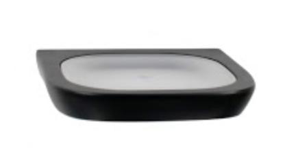 Noir soap dish
