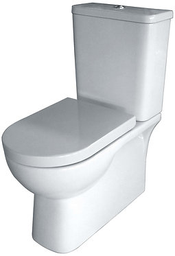 Bianco wall faced boxed rim toilet suite