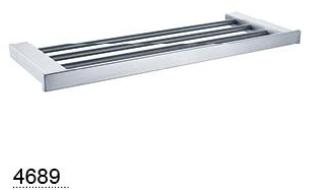 CELIA towel rack 600mm  - Chrome / Black