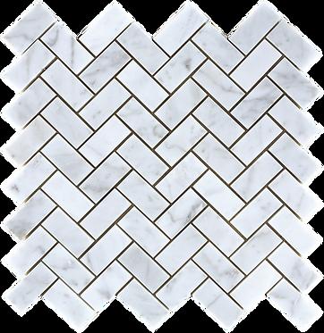 Calacutta herringbone mosaic 270x262mm