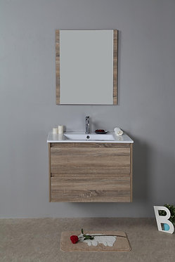 750mm LEO timber vanity - ceramic/stone with under or above counter basin