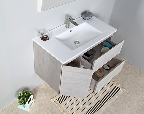 1200mm ELISA timber vanity - ceramic/stone with under or above counter basin