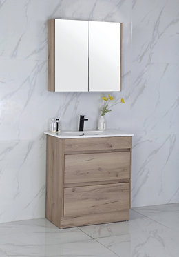 750mm MAX timber vanity - ceramic/stone with under or above counter basin