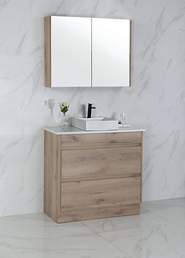 900mm MAX timber vanity - ceramic/stone with under or above counter basin