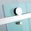 Thumbnail: Frameless sliding screen (1000-2000)mm (adjustable) Chrome
