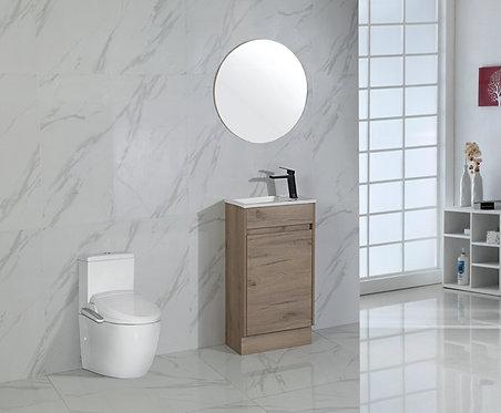 465mm REVIT timber vanity - ceramic top