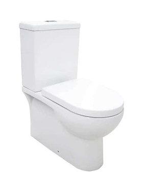 Qubi wall faced boxed rim toilet suite