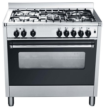 90cm freestanding electric oven, with 90cm gas cook top adaptable for LPG or Gas