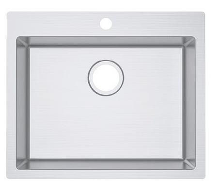 Impact top mounted sink with tap hole