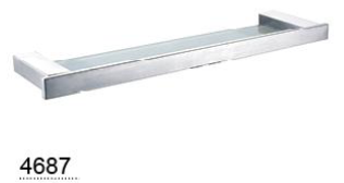 CELIA glass shelf 545mm  - Chrome / Black