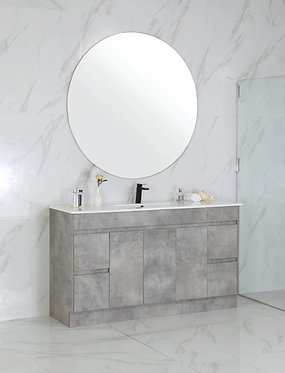 1500mm LOLA concrete vanity - ceramic/stone with under or above counter bas