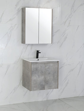 600mm LOLA concrete vanity - ceramic/stone with under or above counter basin