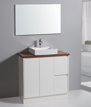 900mm ALICE vanity - ceramic/stone with under or above counter basin