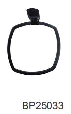 NOIR hand towel ring-Chrome/Black/Gun metal finish