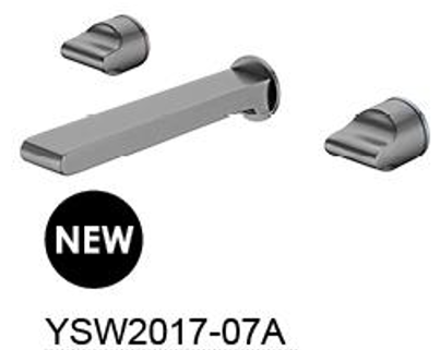 PEARL wall basin mixer  Chrome / Gun Metal / Rose Gold
