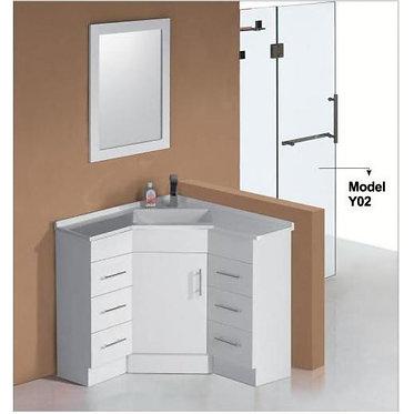 900mm Corner vanity