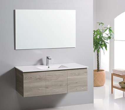 1500mm FRANCO timber vanity - ceramic/stone with under or above counter basin