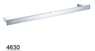 CELIA single towel rail 800mm  - Chrome / Black