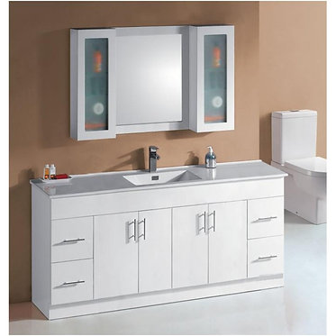 1800mm vanity Ceramic top / Stone & undermount basin or above counter basin