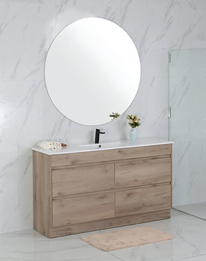 1500mm MAX timber vanity - ceramic/stone with under or above counter bas
