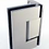 Thumbnail: Frameless (A) hinged door - Matte/Brushed nickel/Brushed gold