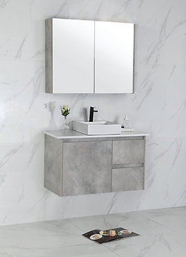 1200mm LOLA concrete vanity - ceramic/stone with under or above counter