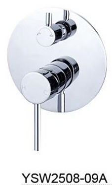 DOLCE shower mixer with divertor Chrome / Black / Brushed Nickel