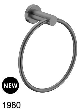 MECCA hand towel ring-Chrome/BK/Brushed nickel/Gun metal grey/Brushed gold