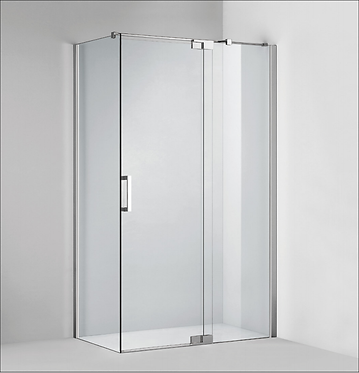 Frameless pivot door (800-2000)mm (adjustable) - Chrome