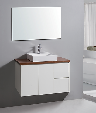 1500mm ALICE vanity - ceramic/stone with under or above counter basin