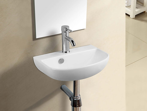 Minty ii wall hung square basin with bracket