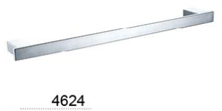 CELIA single towel rail 600mm  - Chrome / Black