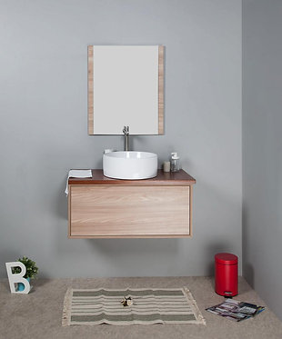 900mm MIA timber vanity - ceramic/stone with under or above counter basin