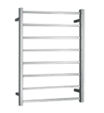 Heated stainless steel towel ladder square bar (Hard wire connection)