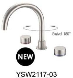 KARA bath set  Chrome / Black / Brushed Nickel