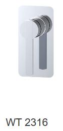 ROMEO shower mixer - Chrome / Brushed nickel / Gun metal grey