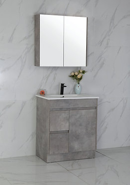 750mm LOLA concrete vanity - ceramic/stone with under or above counter basin